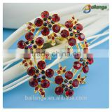 vintage china cheap latest fashion wedding wholesale crystal poppy pin rhinestone brooch
