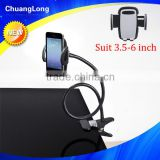 Convenient flexible bendable gooseneck design one hand release cell phone holder for desk