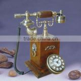 Antique wooden telephone for home decoration