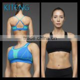 Kiteng (ODM/OEM )Women Wholesale Sports Bra sexy hot girl yoga bra with color panel and crisscross Office In Unite State (USA)