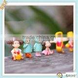 Shenzhen manufacturer Custom minature cute girl bonsai figurines plant pot gift for home decoration