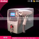 Hot sale new designed product Q swith laser alexandrite Q Switch Nd Yag laser tattoo removal system with CE approved