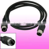 5 Pin DIN M/M Male to Male MIDI Cable Cord Black New 1M