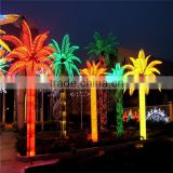 J080406China supplier decorative artificial light tree outdoor lighted coconut palm trees