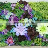 new design plant wall interior decor wall factory artificial succulent wall