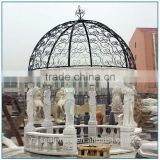 Garden large white stone marble gazebos for sale