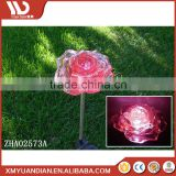 Beautiful Solar Red Rose Flower Stake Outdoor Yard Decor Led Lamp Great Gift Garden Decoration Led Landscape Light