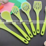 CK-3122 Food grade Heat resistant 6pcs untensil kitchen tool sets Silicone covered Nylon utensil cooking tool set with PP handle