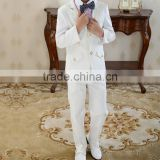2015 hot sale children's white 3 piece suit boys fashion dress on party and wedding wear