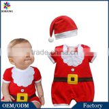 Baby Toddler Christmas Santa Claus Clothing Winter Cotton 2 PCS Baby Romper