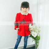 S16156A Hot Sale Old Fashioned Children Fancy Girls Woolen Coats