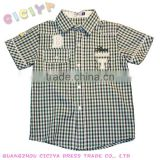 Custom wholesale summer latest boys casual shirt checked design shirt make to order