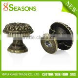 Custom Antique Bronze Flower Pattern Carved Mushroom Shape Jewelry Box/Case Drawer Pull Knob Handles