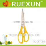 "KT006 9"" Hot Sale Stainless Steel Kitchen Scissors with color pp handle"