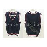 Fashion Autumn Cotton V Neck Sweaters , Black Sleeveless Vest for Boys