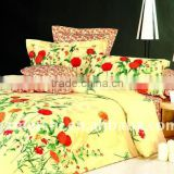 color full flower 100%long stapled cotton bed linen