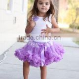 Newborn pictures of long tutu skirts and tops design white top lavendar fluffy pettiskirt chiffon tutu skirts design fashion set
