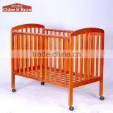 China supplier factory safety quality New Zealand Pine new born baby cot bed prices