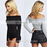 New arrival adult bodysuit off shoulder long sleeve bodysuit wholesale
