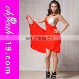Polyester red backless sarong pareo beachwear