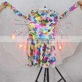 Custom girls christmas dance butterfly costumes with LED