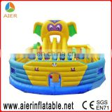 PVC inflatable jungle fun run jumping castle obstacle