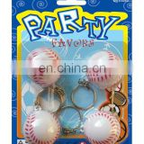 pu ball, plastic baseball W/Key Chain, key chain ball