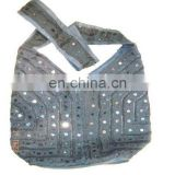 mirror work ethnic designer hobo bag