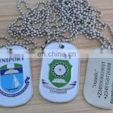 custom silver engraved enamel metal high school dog tag necklace Nigeria