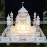 India Agra Taj Mahal, Built In Pure White Marble Beautiful Showpiece