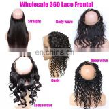 2017 new brazilian human hair 100% remy human hair 360 lace frontal closure