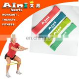 Fitness rubber mini stretch loop bands,fitness resistance loop bands