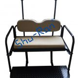 Golf Cart Accessories-Club Car Precedent Golf Cart Flip Folding Rear Back Seat Kit