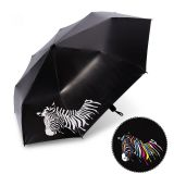 Floding Water Changing Color Umbrella with UPF: 50+