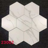 8x9inch Matte Carrara Marble Hexagon Tile
