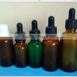 customized laboratory glassware brown glass dropper bottle for chemical reagent china supplier