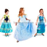 2015 New Design Frozen Fever Anna Elsa Dress For kids Princess Dress Frozen Elsa Dress Wholesale SU056