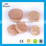 High quality food grade raw cork wooden cork glass bottle wood cork lid
