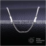 fashion jewelry rhodium plated cheap mesh chain necklace
