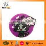 Factory wholesale button shape cup coaster soft pvc drink coasters trader assurance supplier