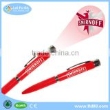 2015 Mini Led laser logo projector pen, LED Logo Projection ballpoint Pen for school ,Promotional pen with led light