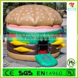 bouncer Type and PVC Material Hamburger theme cheap inflatable bouncer for kids                                                                         Quality Choice