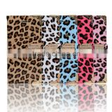 leopard print diomand button wallet leather case For iPhone 6 Cell phone accessories