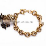 Perfume punk tassel women Crystal Charming gold bracelets & bangles arm bracelet Luxury Brand for women bangle cc