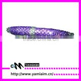 Bling purple rhinestone pen supplier