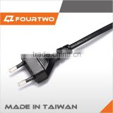 Made in Taiwan high quality low price ac power cord for tv,power cord for hair dryer,european standard ac power cord