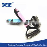 Large Sizes Pet Deshedding Tool Double Sided Blades Dematting Tool                                                                         Quality Choice