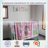sweet zoo girls crib bedding set dust ruffle set from professional manufacturer