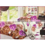 3d 4pcs snow tiger frozen polyester material handmade printed quilt cover disposable bed sheet