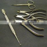 "Lot of 5 Cutical Nippers 4"" Pusher Dermatology Podiatry Surgical NAIL C / Cuticle Scissors / Manicure Pedicur Tools/Beauty care"